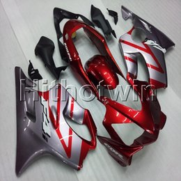 F4i Silver Red Australia - Gifts+Screws Injection mold red silver motorcycle cowl for HONDA CBR600F4i 2004-2007 F4i 04 05 06 07 ABS motorcycle Fairing hull