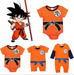 5t romper online shopping - Baby Dragon Ball Clothes r Newborn SON Dragon Ball Cosplay Costume GOKU Toddler Romper Bodysuit Outfits KKA6484