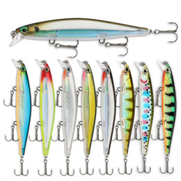 Fishing Lures Suspend NZ - New 3D Eyes Long Lip Suspend Minnow Jerkbaits 13g 11cm Plastic Artificial bass bait Vibration Laser fishing lure