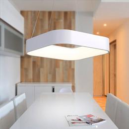 Kitchen Acrylics Australia - Modern Simple Square LED Pendant Light Dining Room Kitchen Island Foyer Droplight Aluminum Acrylic Home Decor Lighting Fixture