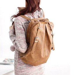 Hots Korean Style Backpack Australia - New Hots Korean Style Girl's Pu Leather Backpack Shoulders Bag Wholesale 4-045