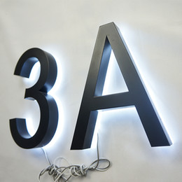 $enCountryForm.capitalKeyWord NZ - Outdoor 304 Stainless Steel LED Halo Lit House Number Signage