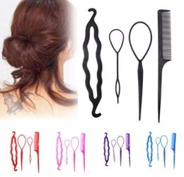 tool sets for women Australia - 4pcs Styling Clips For Girls Stick Bun Donut Maker Braid Tool Set Accessories Headbands For Women Hairband