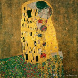 $enCountryForm.capitalKeyWord NZ - The Kiss by Gustav Klimt Hand Painted & HD Print Famous Abstract Art Oil Painting Wall Art Home Deco On High Quality Canvas p186