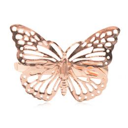 $enCountryForm.capitalKeyWord Australia - Fashion Retro Hollow Golden Butterfly Metal Hair Clip Hairband Bobby Pin Barrette Hairpin Headdress Accessories Beauty Styling