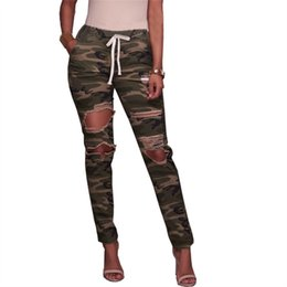 $enCountryForm.capitalKeyWord Australia - Hole Lace Up Women Jeans Painted Ripped Denim Pants High Waist Skinny Casual Trousers Femme