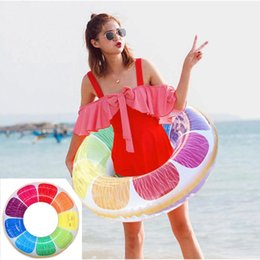 Inflatable Pool Funny Australia - 90cm Swimming Ring Printed Inflatable bouee gonflable Swim Ring Beach Pool Raft Floating Tube Flow Water Funny Toys