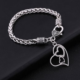 Heart Shaped Chains For Couples Australia - Fishhook Wholesale New Dropshipping Fashionable Valentine's Day Gift Custom Jewelry Accessories Heart-Shaped Bracelets Couples For Women