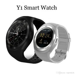 $enCountryForm.capitalKeyWord Australia - Y1 Bluetooth Smart Watch Wristband Bracelet with SIM Card Slot for android cellphones IPS Round Water Resistant with Retail Package