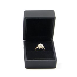 case for mini Australia - Storage For Engagement Wedding Propose Mini Jewelry Display With LED Lighted Decoration Case Ring Box Gift Earring Packaging