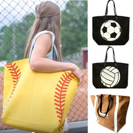handbag book Australia - Large Size Football Baseball Softball Soccer Tote Canvas Zipper Shoulder Handbag Sports Bag Casual Travel School Students Book