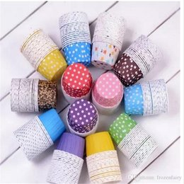Design Cakes Cupcakes Australia - Big size 10,000Pcs Baking Cups Cute Dots Solid Color Paper Cake Christmas Wedding Beautiful Design Greaseproof Paper Cupcake Cases2017092103