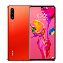 "dual sim black cell phone tv Australia - Original Huawei P30 4G LTE Cell Phone 8GB RAM 128GB 256GB ROM Kirin 980 Octa Core 6.1"" Full Screen 40.0MP Fingerprint ID Smart Mobile Phone"