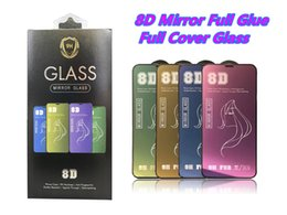 Iphone Glasses NZ - 8D Mirror Beauty Tempered Glass for iPhone X XS XS MAX XR Screen Protector For iPhone 7 8 6 6S Plus Make Up Protective Glass With Package