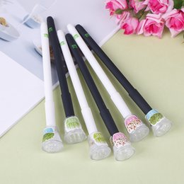 Grass pens online shopping - 0 mm Black Lovely Plant Gel Pen Stationery Creative Gift Office School Supply Cute Garden Grow Grass Gel Pen Kawaii Potted Pens