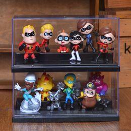 $enCountryForm.capitalKeyWord Australia - 12PCS SET Incredibles 2 Model Cartoon PVC Action Figures Toy Movie Miniature Collectible Dolls Kids Anime Figure Toys for Kids