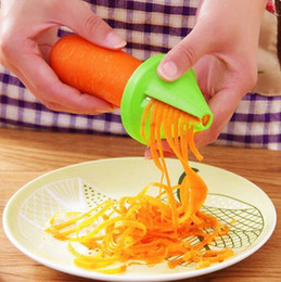 Can vegetables online shopping - Safe and environmentally friendly Kitchen Funnel Model Spiral Slicer Vegetable Shred Carrot Radish Cutter Color can be chosen independently