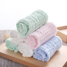 handkerchief Australia - Household Baby Wash Small Towel Absorbent Cotton Yarn Wipe Face Children's Handkerchief Wiper Supplies