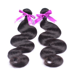 Cheap Natural Hair Wefts UK - 10Pcs Cheap Brazilian Hair Bundles 100% Unprocessed Remy Human Hair Weave Brazilian Body Wave 6A Brazilian Virgin Hair body wave Wefts