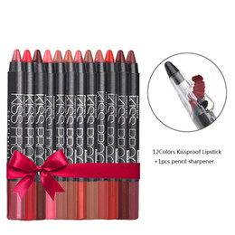 12pcs matite per labbra kit di matite per labbra opache rossetto impermeabile labbra per rossetti opache rossetto penna per liner dotato di temperamatite per le donne in Offerta