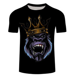 $enCountryForm.capitalKeyWord Australia - New Arrival Plus Size 6XL Brand T-Shirt Men 3D Compression TShirt Print Crown Orangutan Short Sleeve Summer Tops&Tees T Shirt