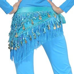 $enCountryForm.capitalKeyWord Australia - Belly Dancing Hip Scarf Waistband Skirt Belt Coins Tassels Dance Costume Hot