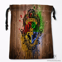 Black Swimming Toys Australia - Custom Gryffindor Logo Drawstring Bags Printing Fashion Travel Storage Mini Pouch Swim Hiking Toy Bag Size 18x22cm#180412-11-16 #512694