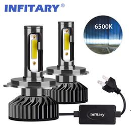 Infitary voiture phares H7 LED H4 LED H1 H3 H11 H13 H27 880 9006 9007 72W 12V 24V 8000LM 6500K Auto COB Brouillard Headlamp Ampoule en Solde