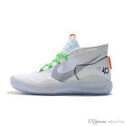 boys basketball kd NZ - Womens kd 12 basketball shoes new White Foams XX Easters Yellow high top boys girls kids kd12 kevin durant xii sneakers tennis with box size
