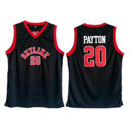 jersey basketball black Australia - Hot High School Gary Payton Jersey 20 Men Black Basketball Skyline Jersey Sale University For Sport Fans Breathable Top Quality shirt Cheap