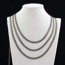 $enCountryForm.capitalKeyWord Australia - 5meters Black Enamel Rosary Chain Findings,Chevron Chains Spike Studded Brass Copper Metal Beaded Chains for Enamel Choker ZJ233