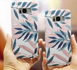 $enCountryForm.capitalKeyWord Australia - Leaves Print Phone Case For Samsung Galaxy S6 S7 Edge Plus S8 S9 Plus Note 8 9 Matte Hard Plastic Back Cover