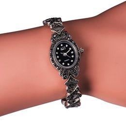$enCountryForm.capitalKeyWord Australia - Ladies Black Vintage Bracelet Watch, Women's Watches for Small Wrists, Girls Quartz Watch