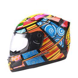 $enCountryForm.capitalKeyWord NZ - Motorcycle helmet Brand Malushun Valentino Rossi helmet Kart racing full face helmet Men motociclistas capacete DOT approved