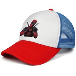 1e1d17cc Deadpool love funny Marvel movie kids baseball caps Curved Teen baseball cap  Back Closure red cap cheap snapbacks hats