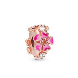 $enCountryForm.capitalKeyWord Australia - Kristie 100% 925 Sterling Silver New 2019 Spring 798112 Nccmx Romantic Peach Gold Pink Clip Charm Fit Diy Bracelet Security