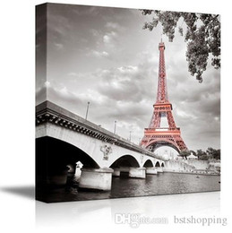 $enCountryForm.capitalKeyWord Australia - High Quality HD Print Modern Abstract Landscape Art Oil Painting Eiffel Tower in Paris, France On Canvas Home Decor Wall art l72