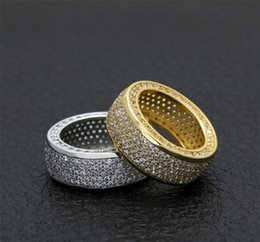 $enCountryForm.capitalKeyWord NZ - Hip Hop CZ Ring Gold Silver Iced Out Bling Zircon Copper Material Punk Rings Fashion Party Jewelry