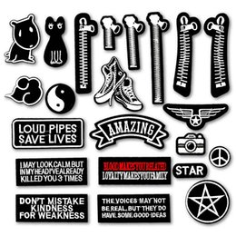 $enCountryForm.capitalKeyWord Australia - Amazing Star Zipper Cat Dog Shoe DIY Embroidered Iron On Patches for Clothing Clothes Stickers Sew On Badges Patch
