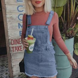 $enCountryForm.capitalKeyWord NZ - Women Girl Denim Jeans Summer Dress Sleeveless Dungaree Pinafore Slim Mini Short Dress Kaftan vestidos de verano Women Dresses