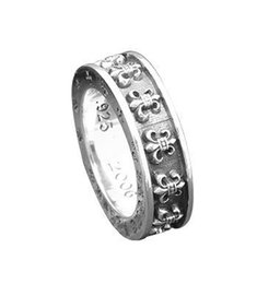 mens sterling silver stone rings NZ - 925 sterling silver rings trend personality jewelry punk style mens and womens Lovers gift hip hop cross style luxury designer jewelry 0019