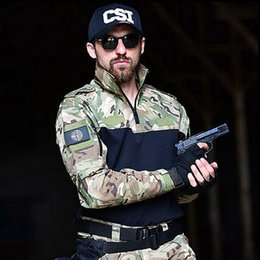 $enCountryForm.capitalKeyWord Australia - Paintball Tactical Camouflage Uniform Combat Suit Clothing for huning shirt + pants Men Clothes two piece set