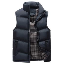 Korean Mens Jackets Coats UK - New Brand Vest Men Casual Sleeveless Jacket Male Outwear Cotton-padded Coat Mens Korean Fashion Thicken Waistcoat Warm Vest 4xl