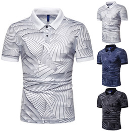 $enCountryForm.capitalKeyWord Australia - Mens Summer Fashion Polos 2019 Hot Sale High Quality Mens Trend Wave Pattern Print Polo Mens Slim Lapel Shirts Men Brand Tops Tee Size S-3xl