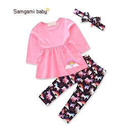 christmas clothes Australia - kids clothing girl Christmas style pink long sleeve tops +pant sets two-piece sets girl clothes