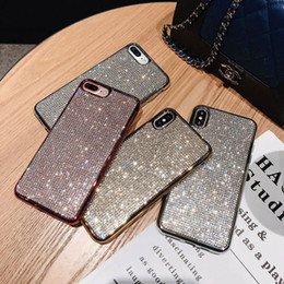 $enCountryForm.capitalKeyWord Canada - DHL Free Shipping Bling Bling cell phone case soft TPU Rhinestone Glitter Phone cover for iPhone 7 8PLUS XR X MAX