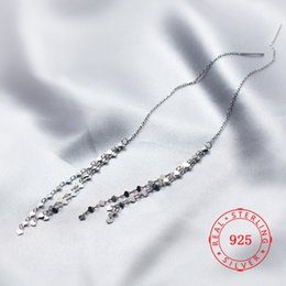 heart products NZ - Threader Dangle Heart Earring China product wholesale good quality jewelry 925 sterling silver long chain tassel earrings for Teen