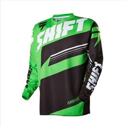 women suit shirts Canada - SHIFT downhill suit summer mountain bike long-sleeved men and women quick-drying suit wicking off-road motorcycle clothing custom T-shirt