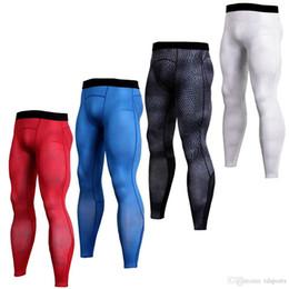 Toptan satış Erkekler Dört Mevsim Stil erkekler Ücretsiz Kargo sıkıştırma pantolon spor koşu tayt basketbol spor salonu pantolon vücut joggers sıska tayt