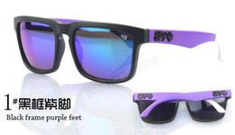 Wholesale SPY1 HELM Multicolor Reflective Sunglasses Brilliant Multicolor Sunglasses Personality Sports spy